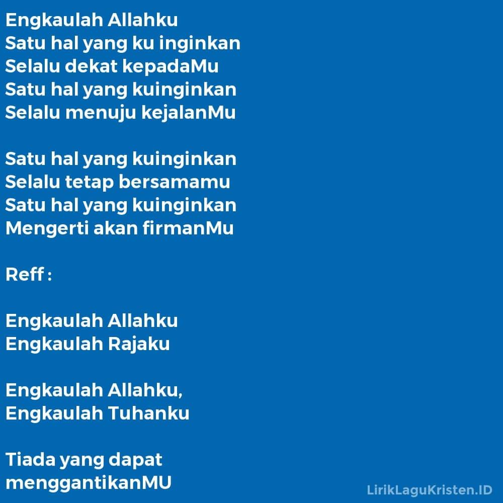 Engkaulah Allahku
