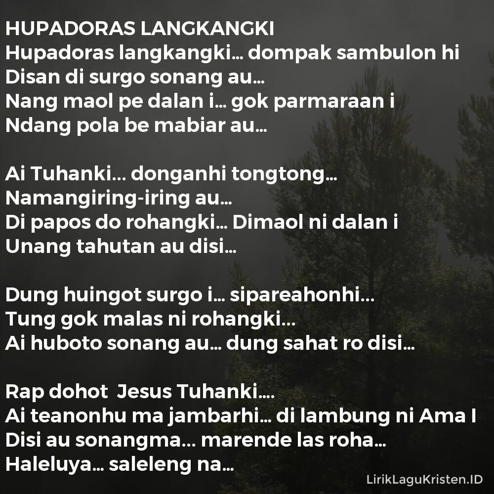 HUPADORAS LANGKANGKI