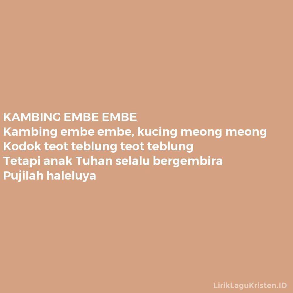 KAMBING EMBE EMBE