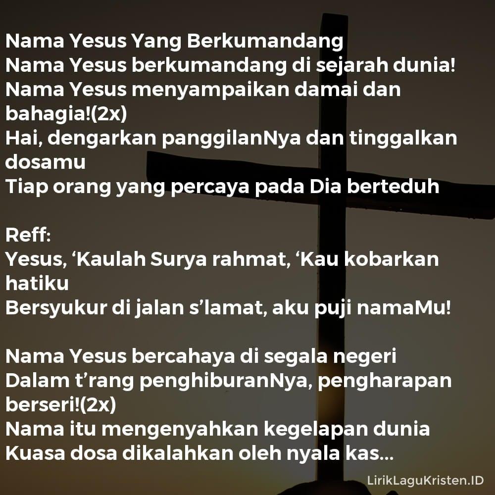 Nama Yesus Yang Berkumandang