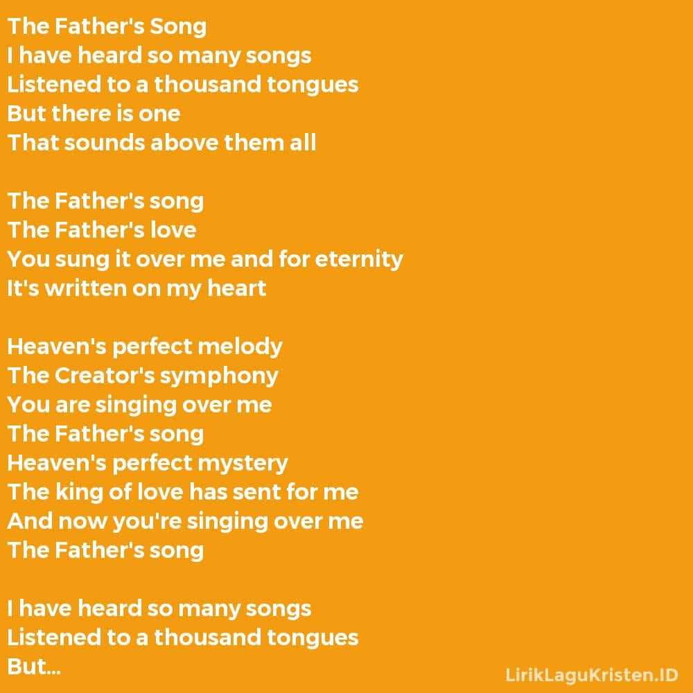 The Father's Song