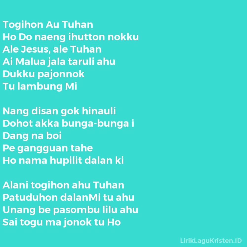 Togihon Au Tuhan