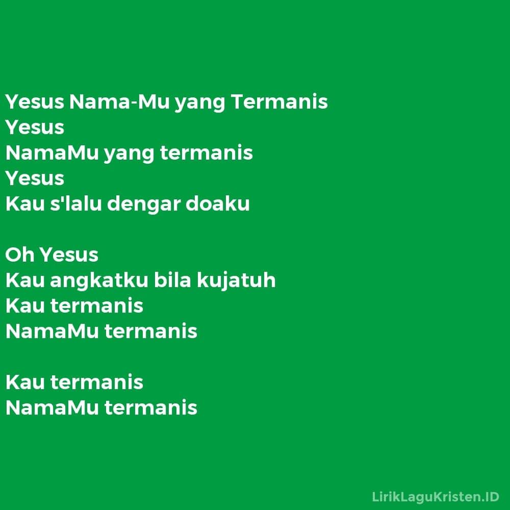 Yesus Nama-Mu yang Termanis