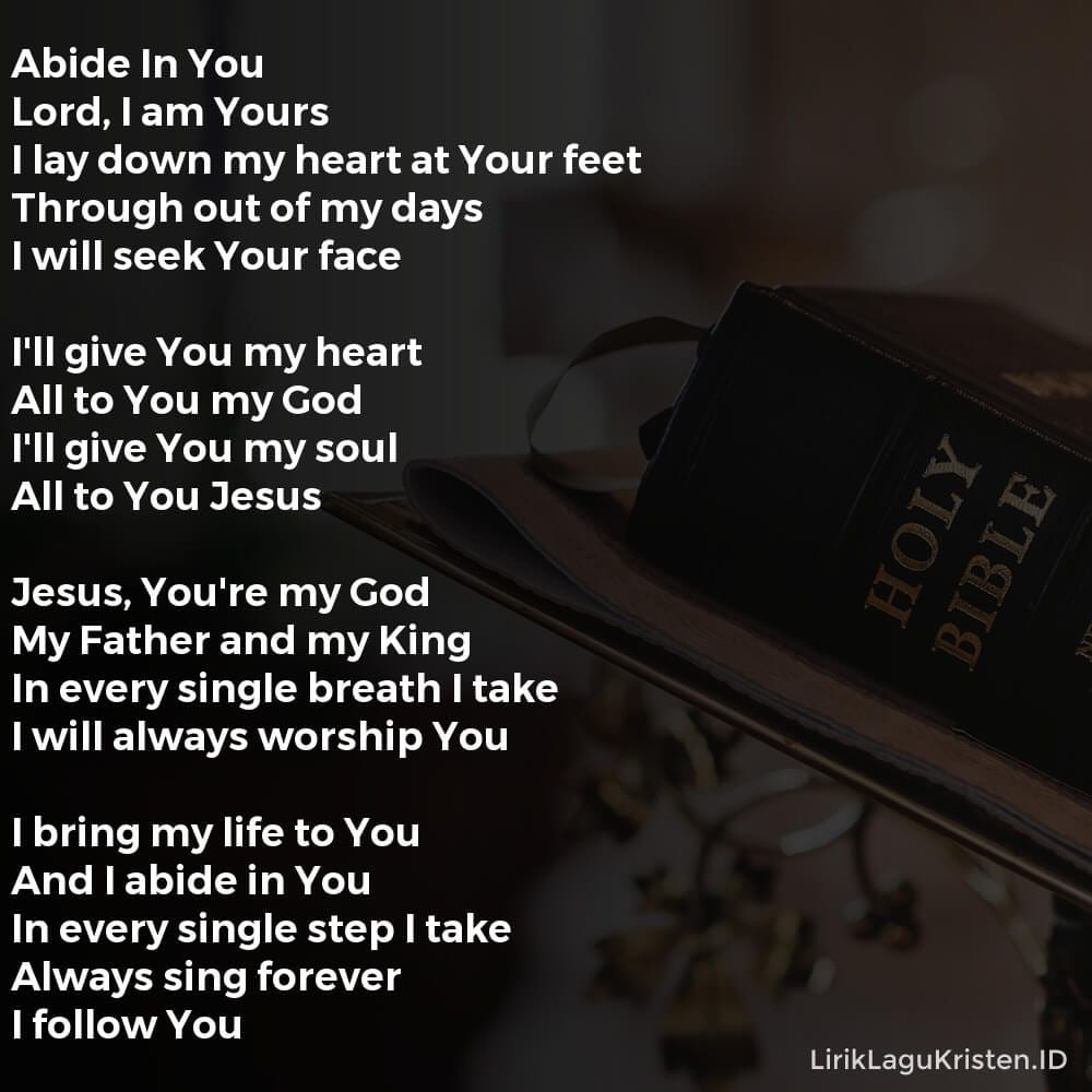 Abide In You