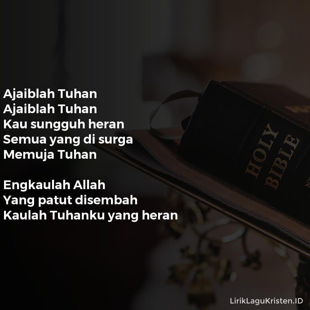 Ajaiblah Tuhan