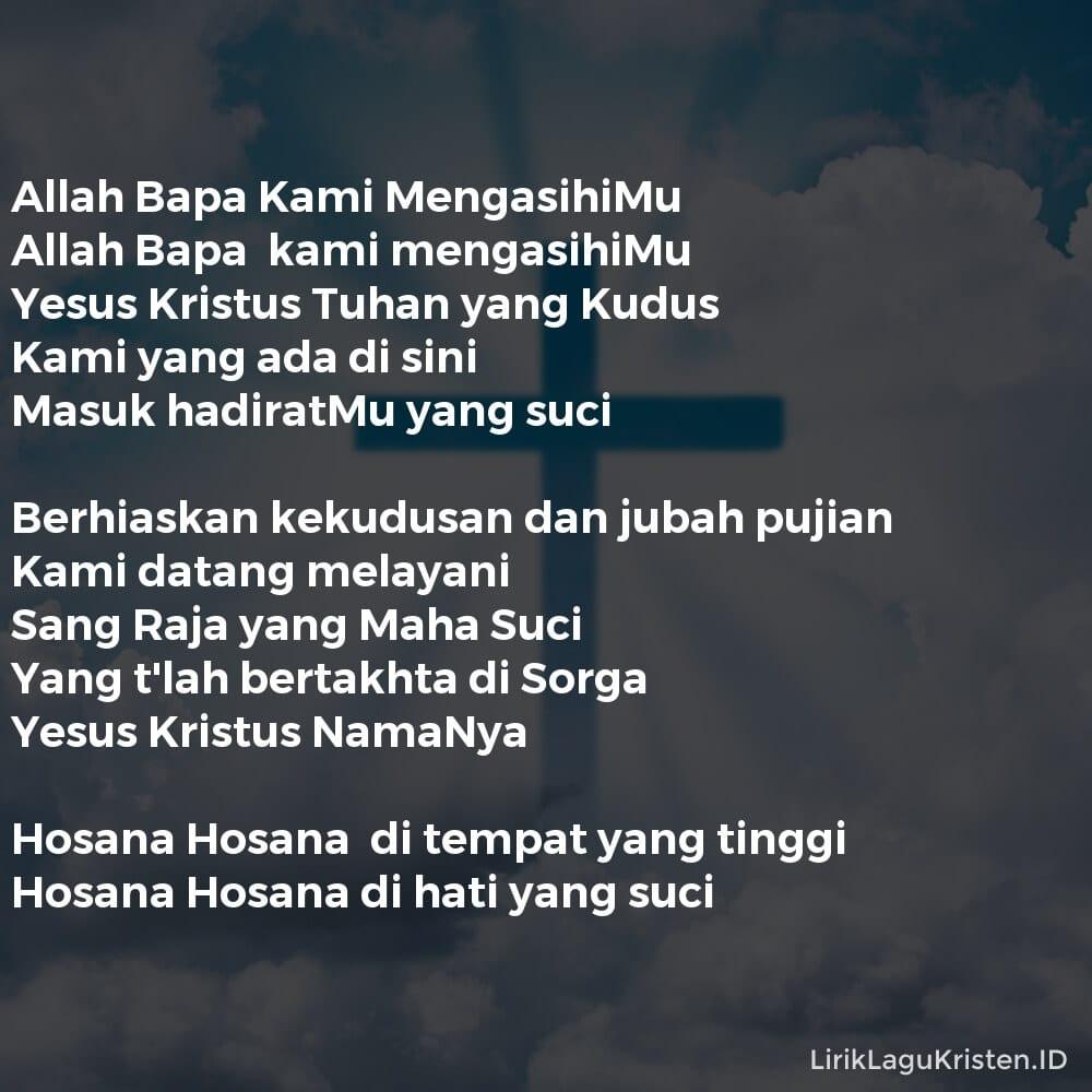 Allah Bapa Kami MengasihiMu