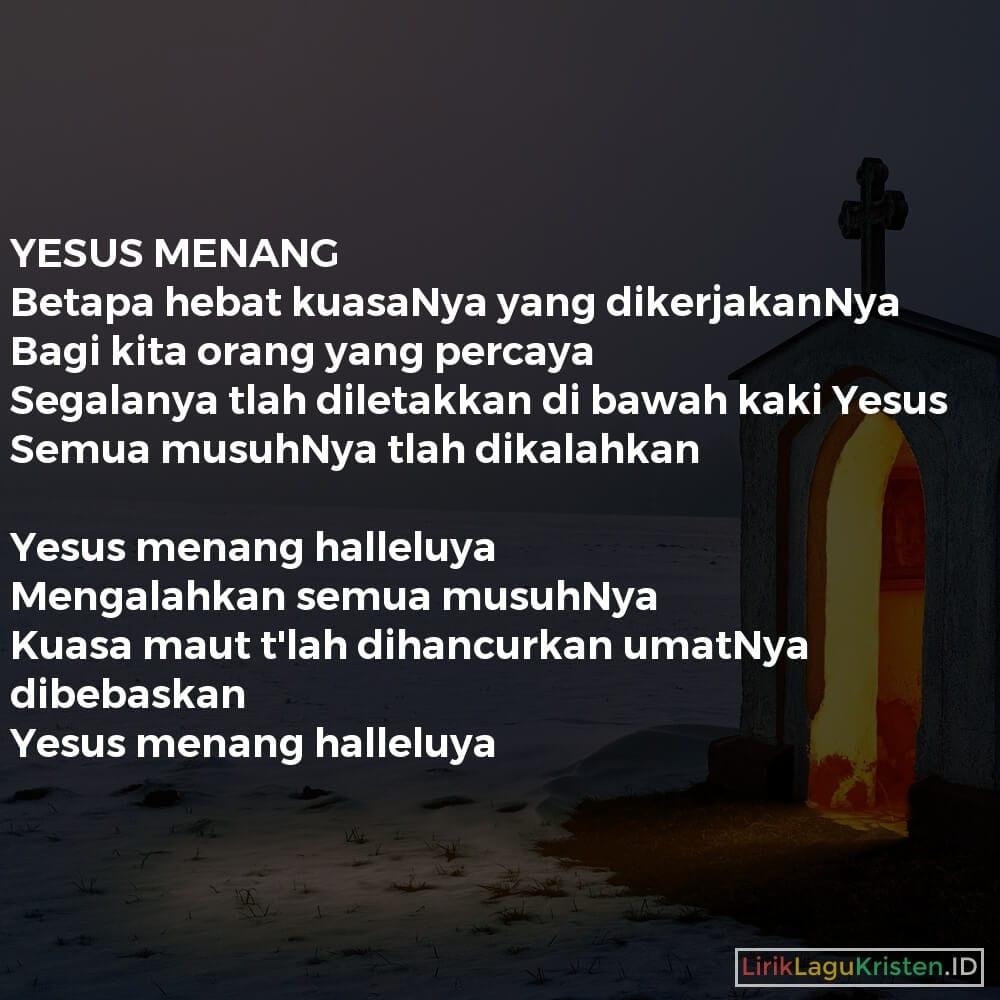 YESUS MENANG