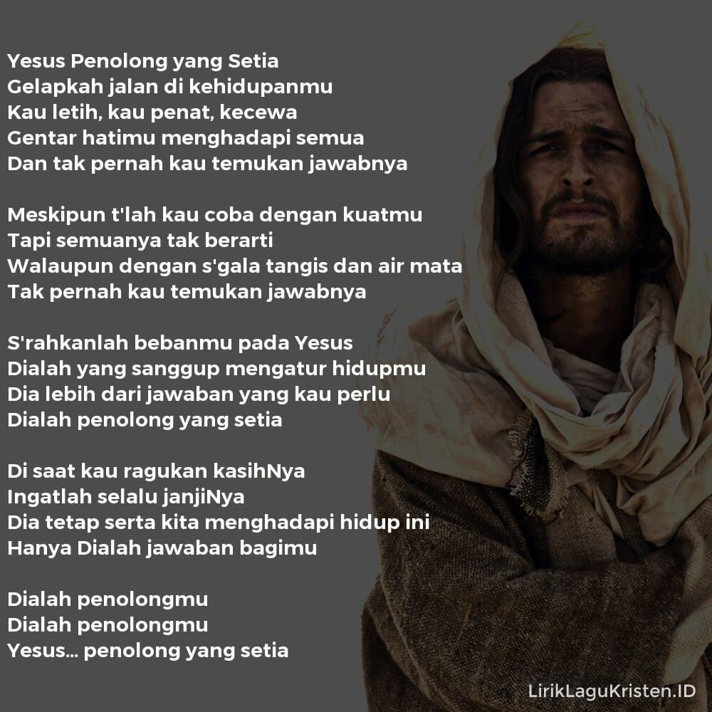 Yesus Penolong yang Setia
