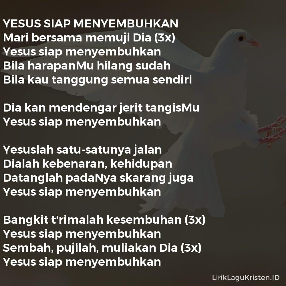 YESUS SIAP MENYEMBUHKAN