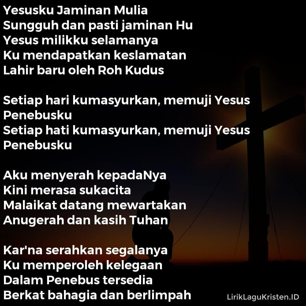 Yesusku Jaminan Mulia