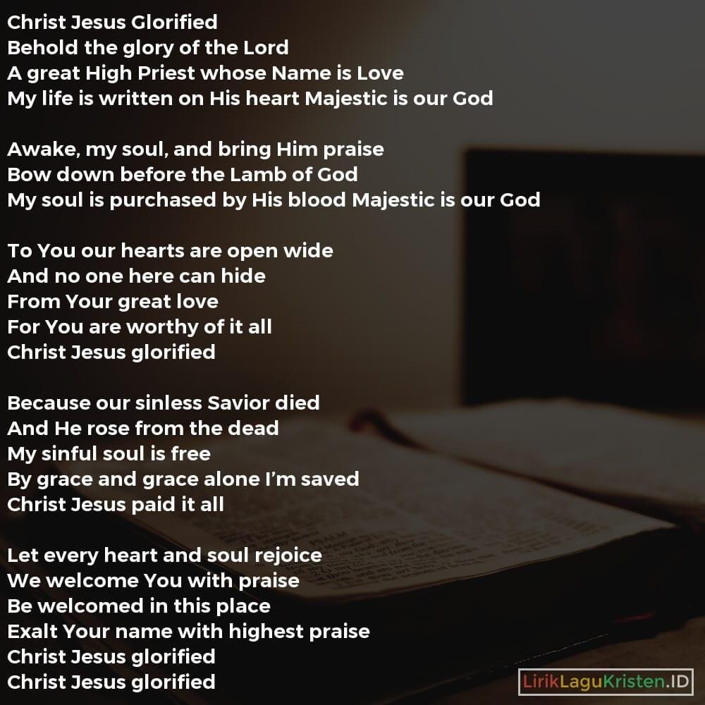 Christ Jesus Glorified
