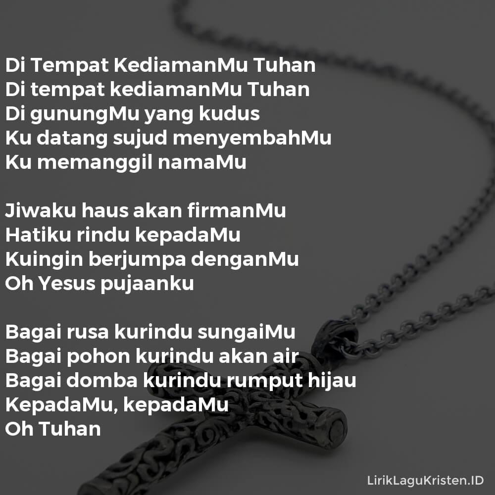 Di Tempat KediamanMu Tuhan