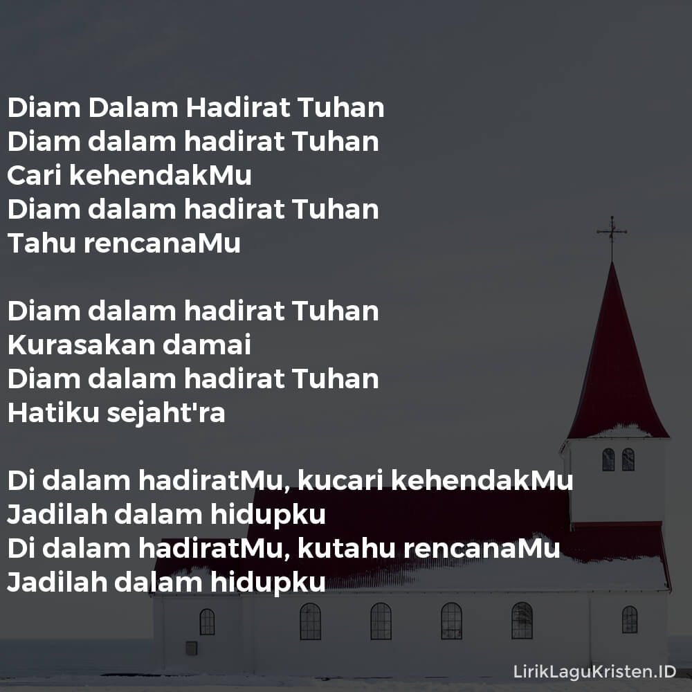 Diam Dalam Hadirat Tuhan