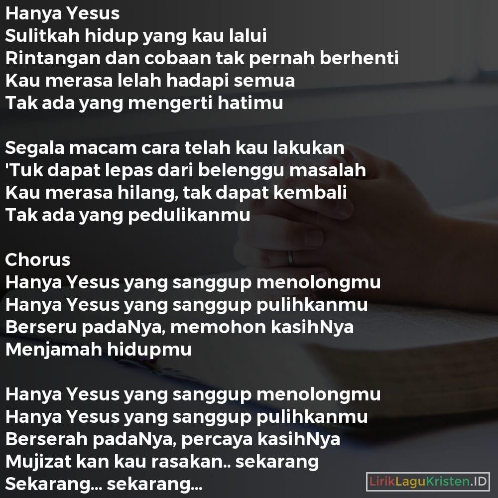 Hanya Yesus