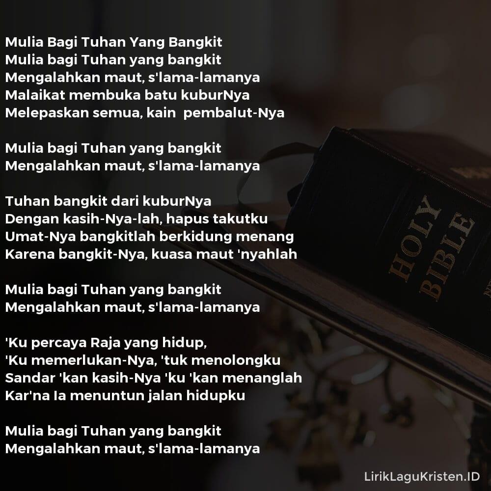 Mulia Bagi Tuhan Yang Bangkit