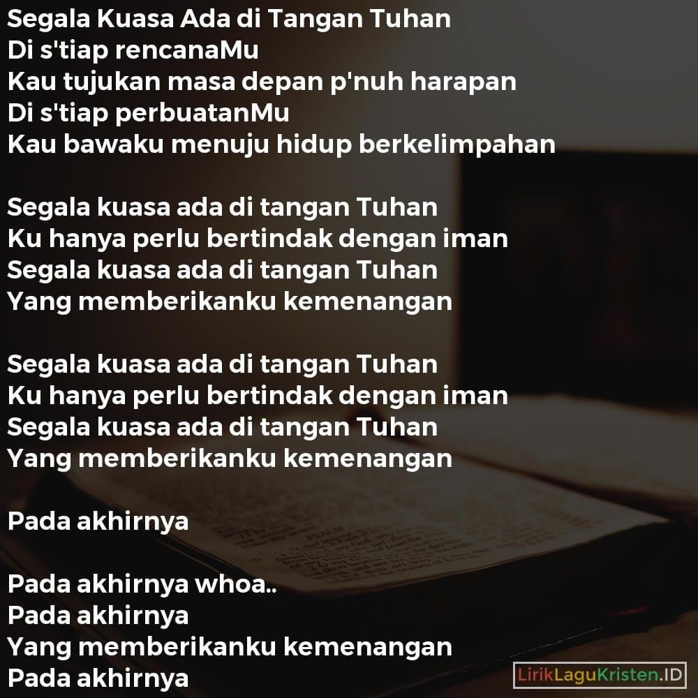 Segala Kuasa Ada di Tangan Tuhan