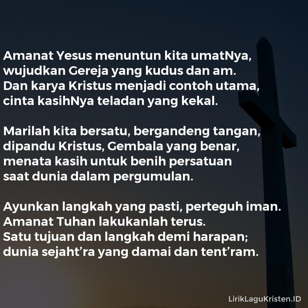 Amanat Yesus Menuntun Kita