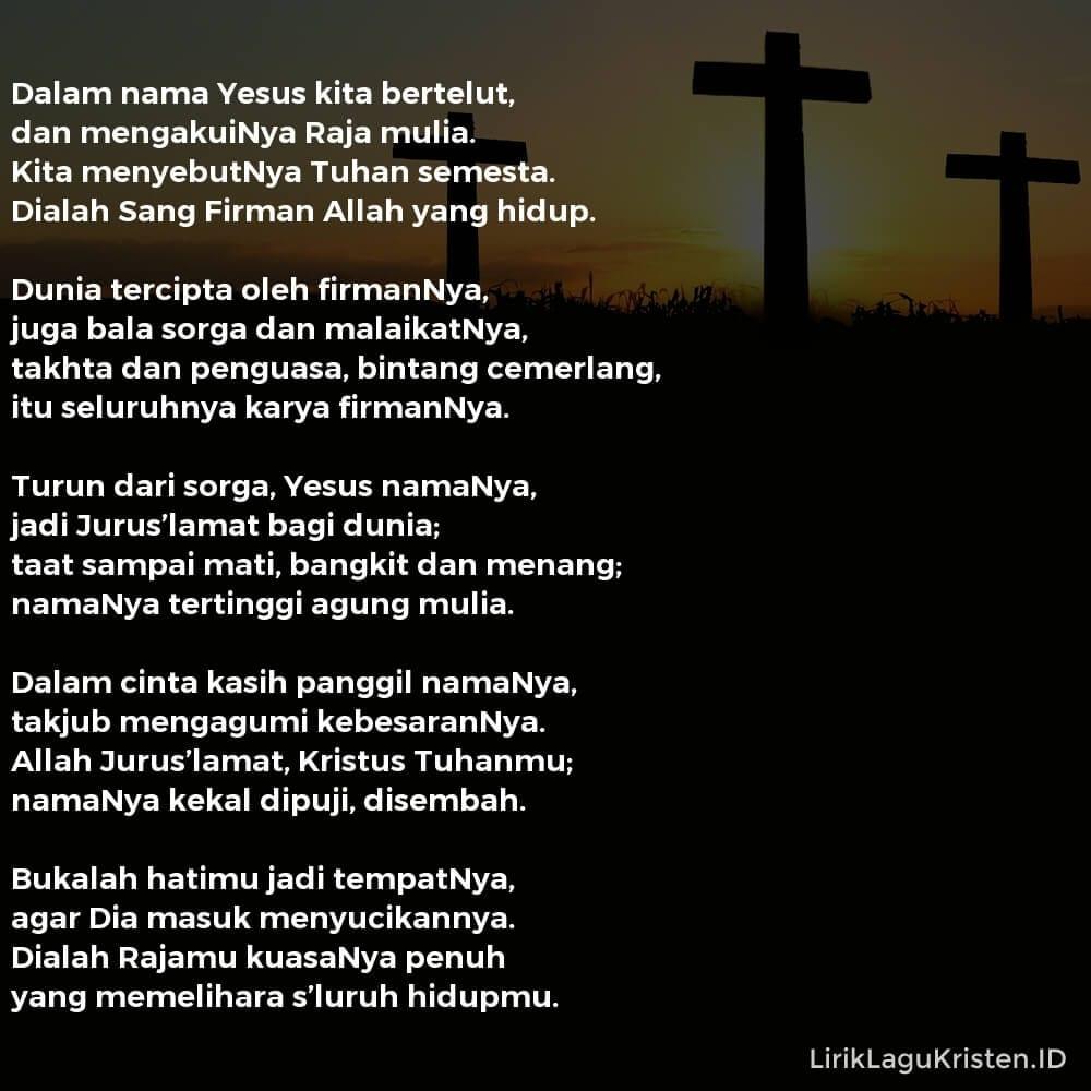 Dalam Nama Yesus Kita Bertelut