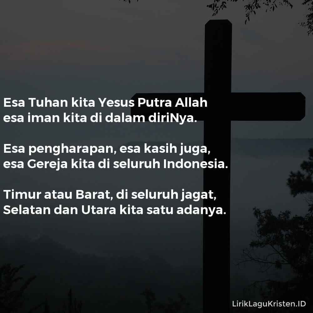 Esa Tuhan Kita, Yesus Putra Allah