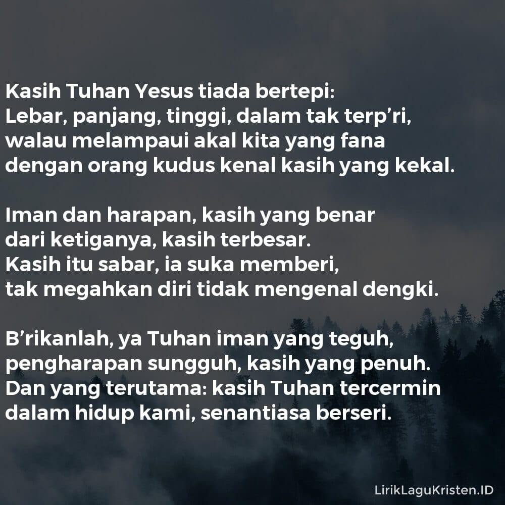 Kasih Tuhan Yesus Tiada Bertepi
