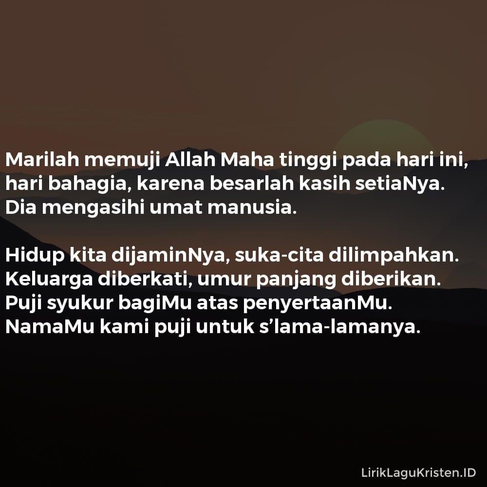 Marilah Memuji