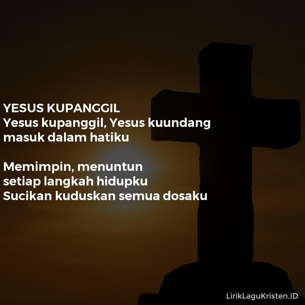 YESUS KUPANGGIL