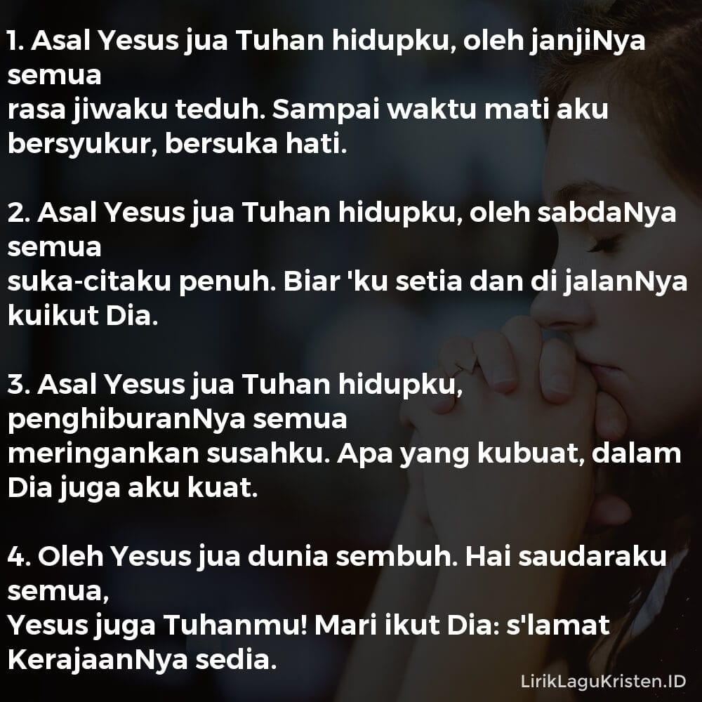 Asal Yesus Jua Tuhan Hidupku