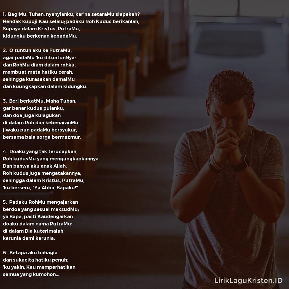 BagiMu Tuhan, Nyanyianku