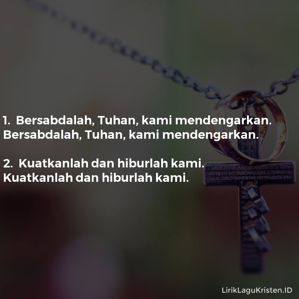 Bersabdalah, Tuhan
