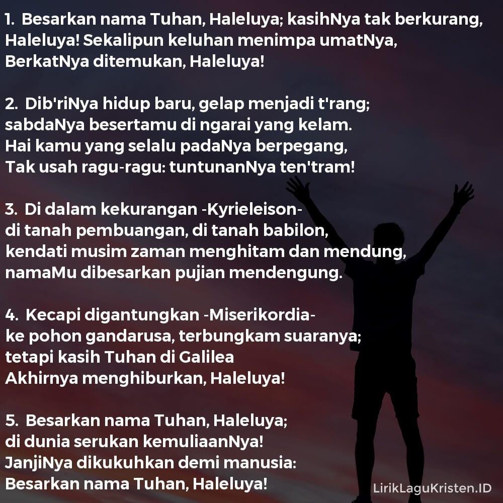 Besarkan Nama Tuhan