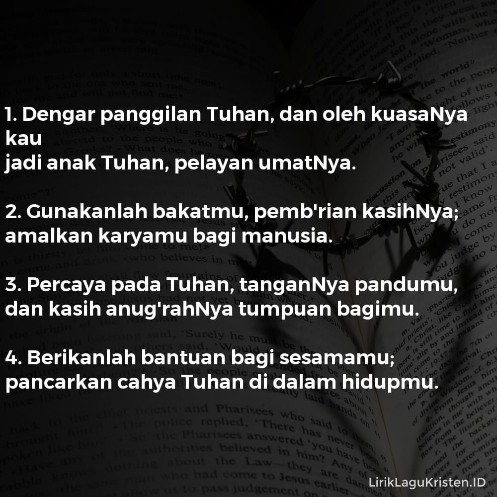 Dengar Panggilan Tuhan