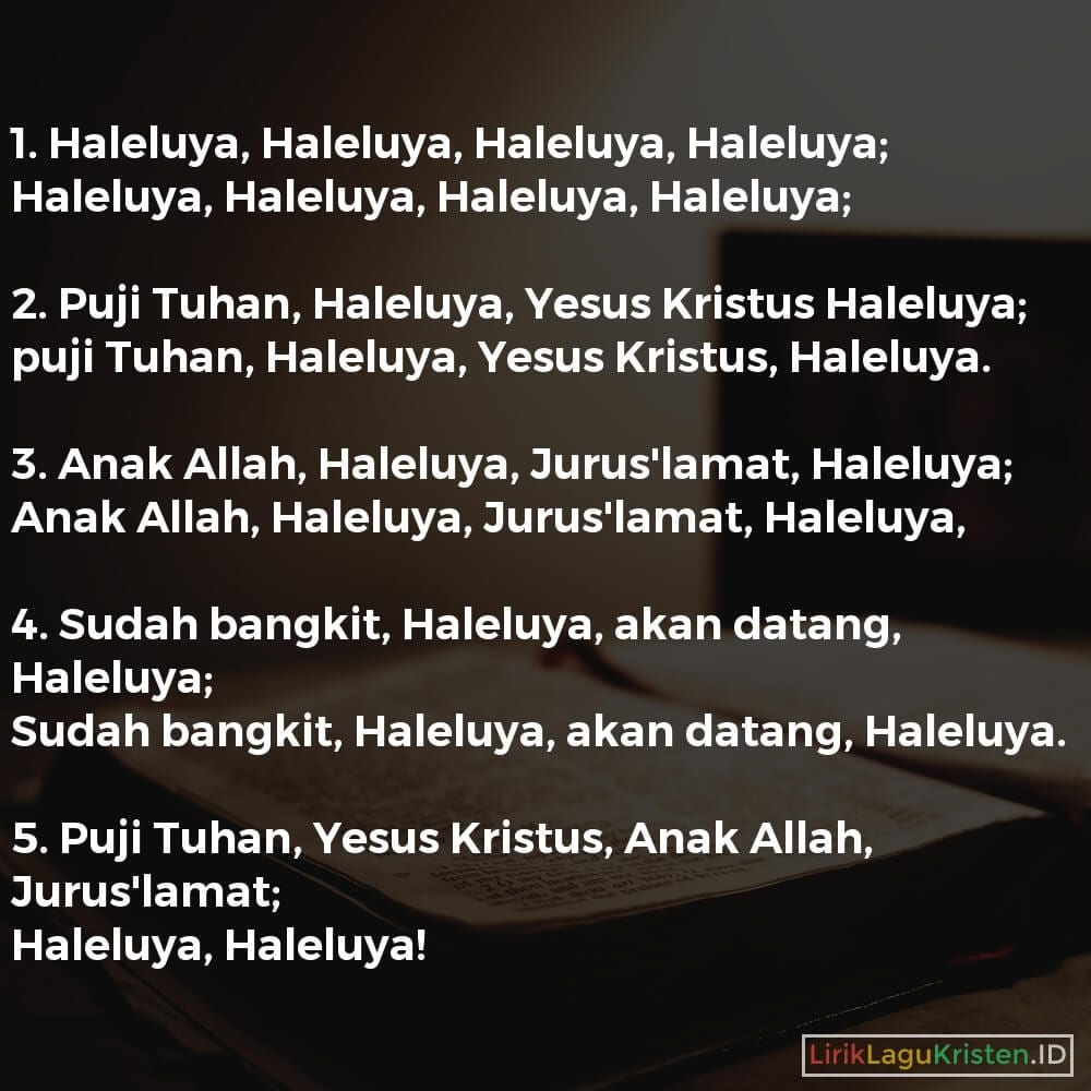 Haleluya, Haleluya