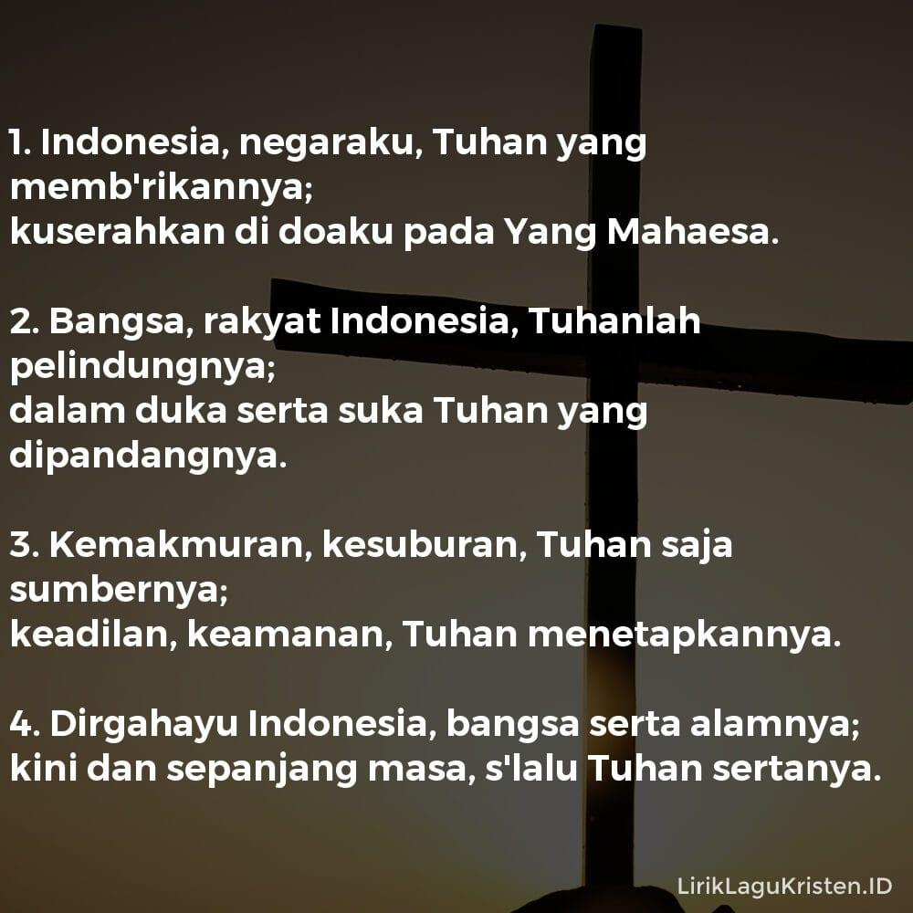 Indonesia, Negaraku
