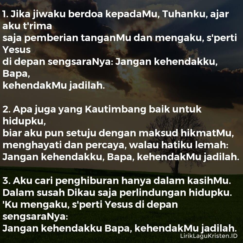 Jika Jiwaku Berdoa