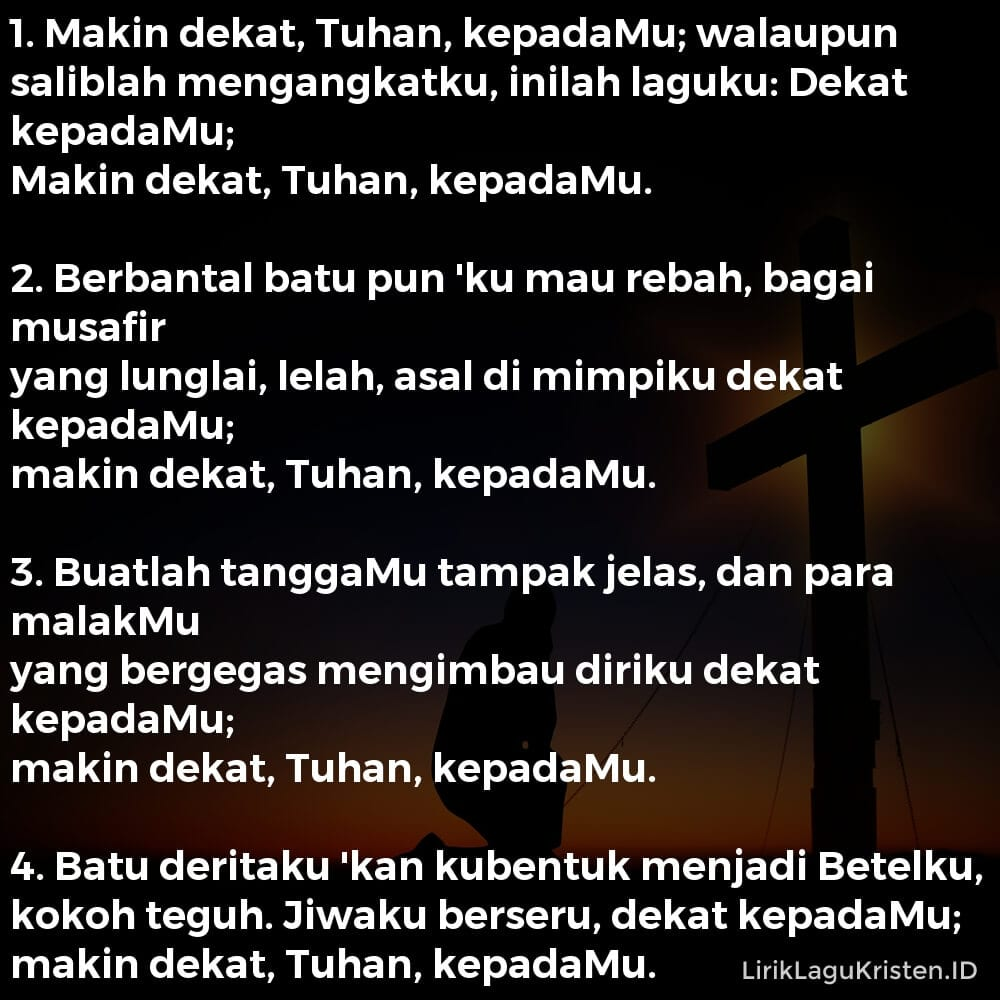 Makin Dekat, Tuhan