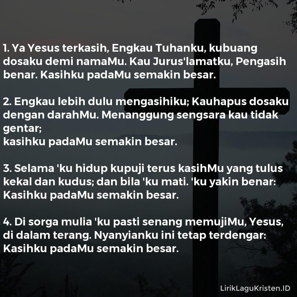 Ya Yesus, Terkasih