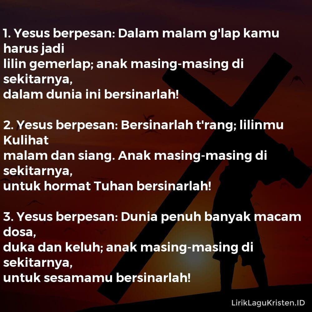 Yesus Berpesan