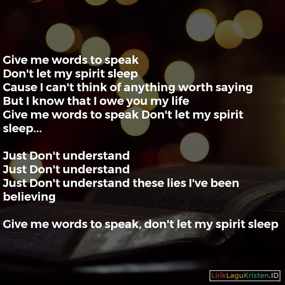 Give Me Words To Speak