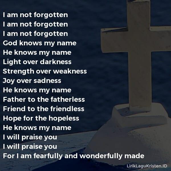I Am Not Forgotten